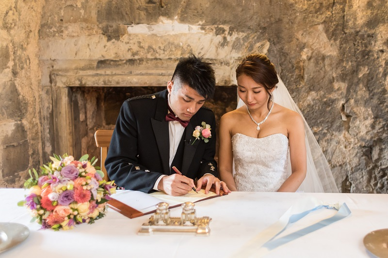 Jacey Ching Dundas Castle Real Wedding Ryan White Photography