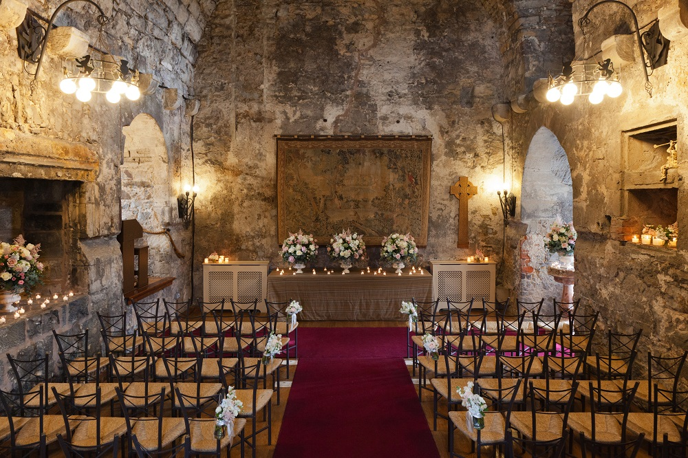 Scottish Castle Wedding Venue Ceremony